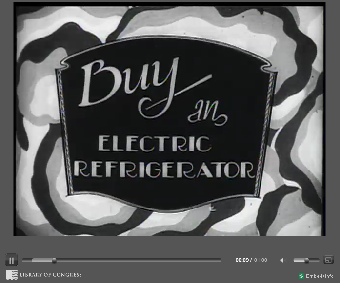 Electric Refrigerator old sign