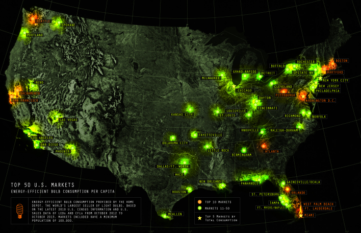 EE lighting map