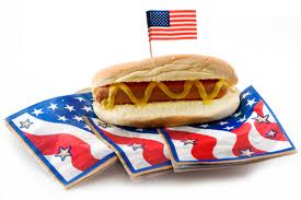 Flag And hot Dog