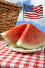 Flag and Watermelon