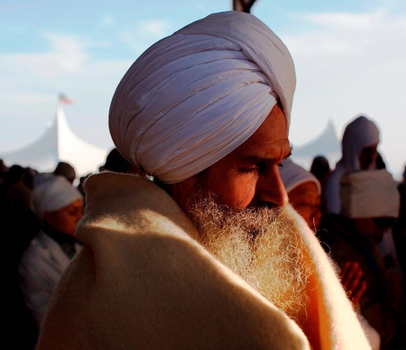 Sewa Singh meditating