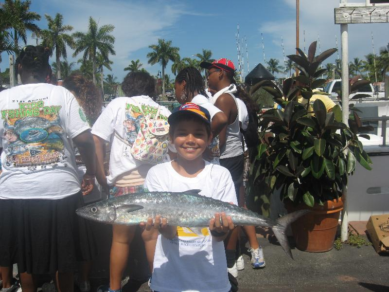 Elvin T with fish