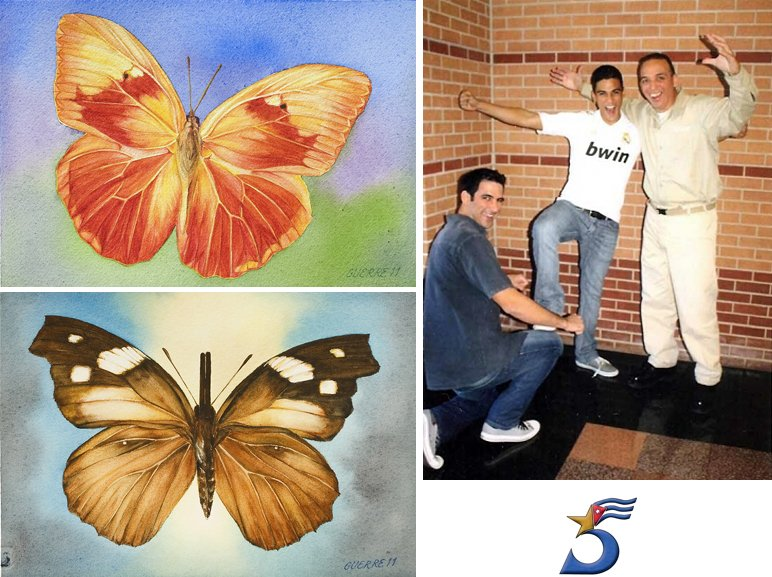 Tony w/sons and butterflies