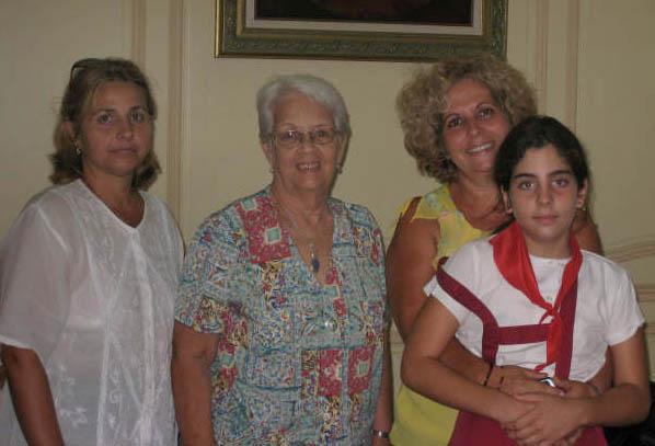 Eli, Mirta, Olga, Ivette 9-07