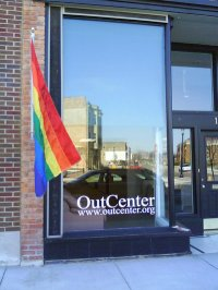 OutCenter window with flag