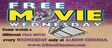 Free Movie Wednesday Albion Cinema