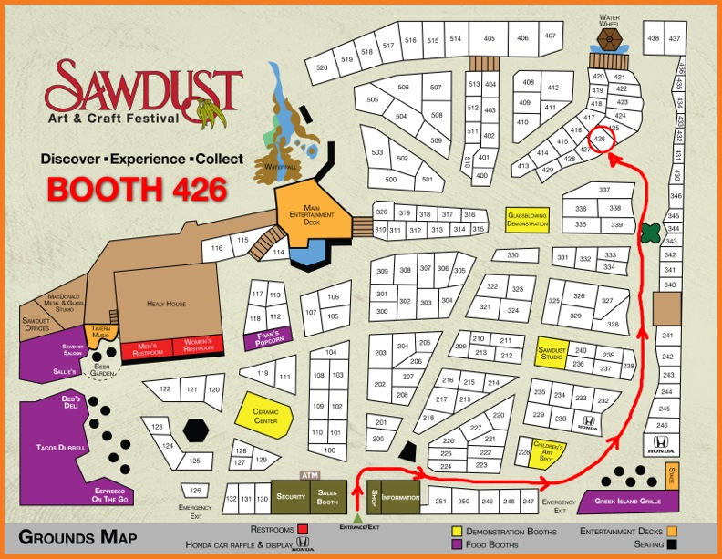 Sawdust booth map 2023