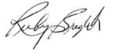Ruby's signature