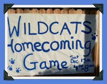 Homecoming handmade sign