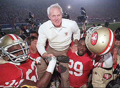 Bill Walsh on shoulders