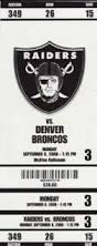 Raiders ticket