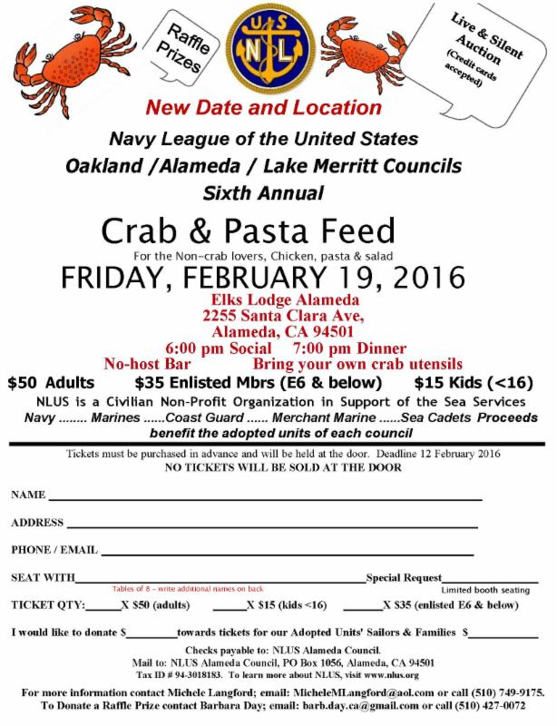 Navy Crab Feed - 2-16