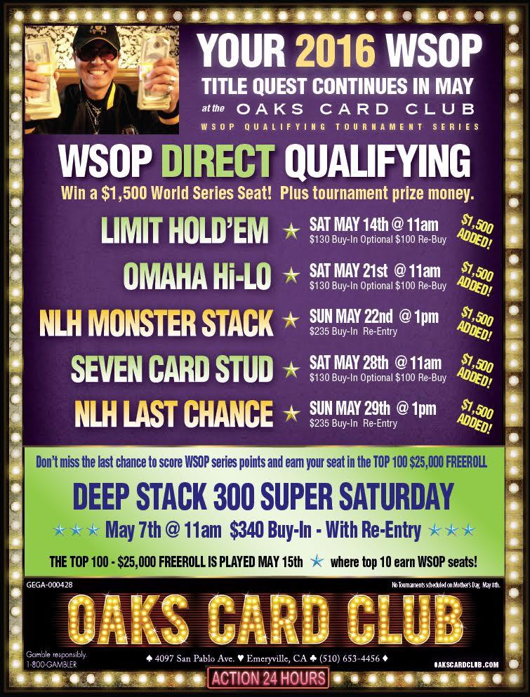 Oaks Card Club - May 2016