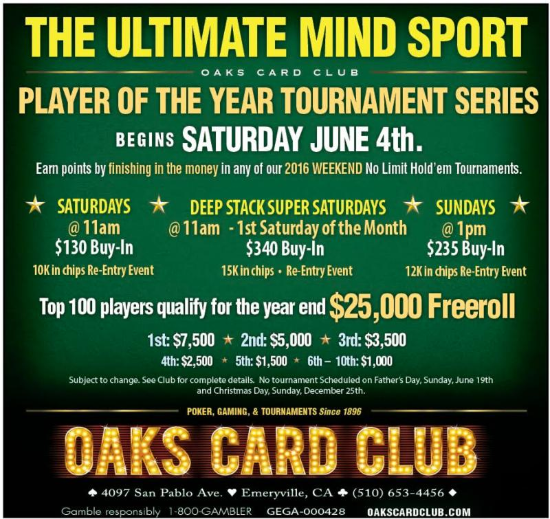 Oaks Card Club - 5-30-16