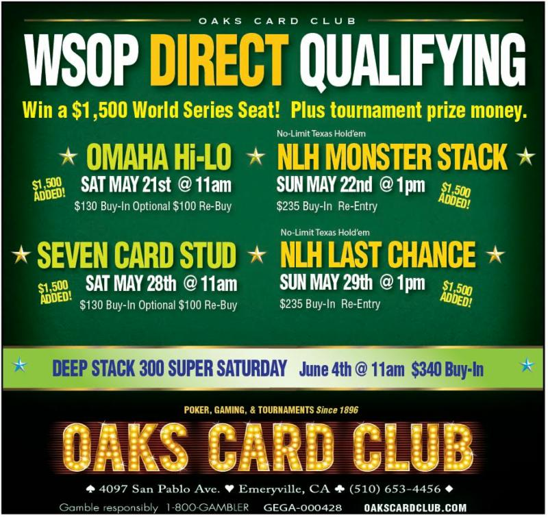 Oaks Card Club - 5-16