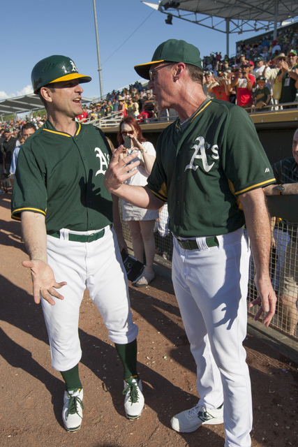 Harbaugh & Melvin - A's - 2015