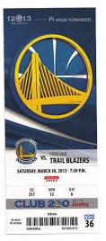 Warriors ticket