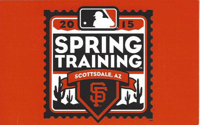 Spring training postcard - 2015