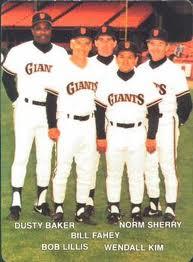 Wendell Kim baseball card