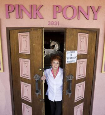 Gwen at front door