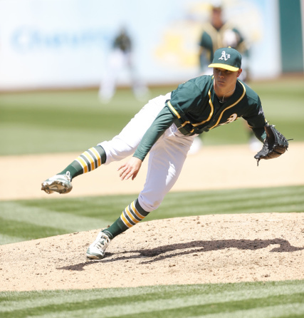 A's Sonny Gray - 5-15 - Michael  Zagaris