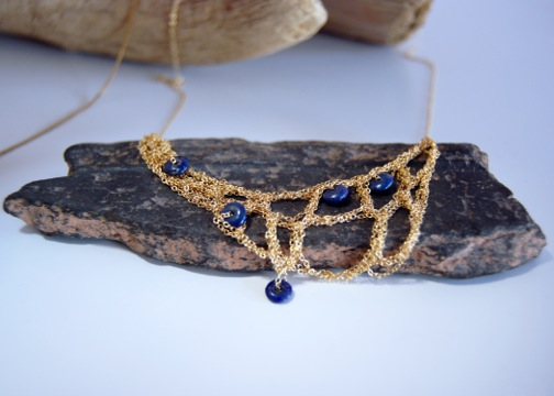 Sirius Lux lapis & goldfill necklace