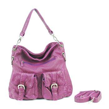 Plum handbag