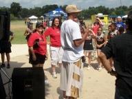 George Hill of San Antonio Spurs with KVDA Telemundo