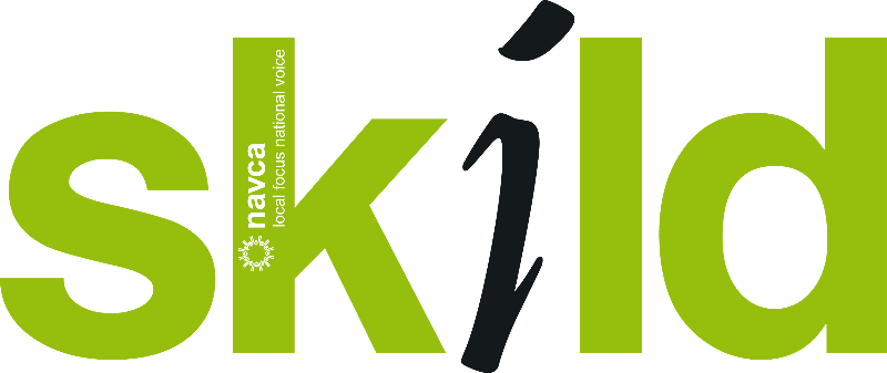 Skild logo in green