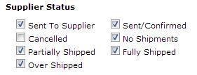 SupplierStatus screenshot