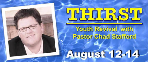 Chad Stafford Sunday's Guest Speaker