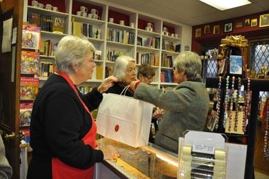 Canterbury Bookstore at christmas