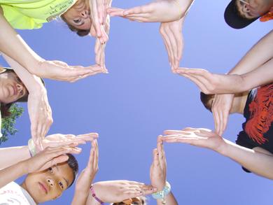 hands forming a cross