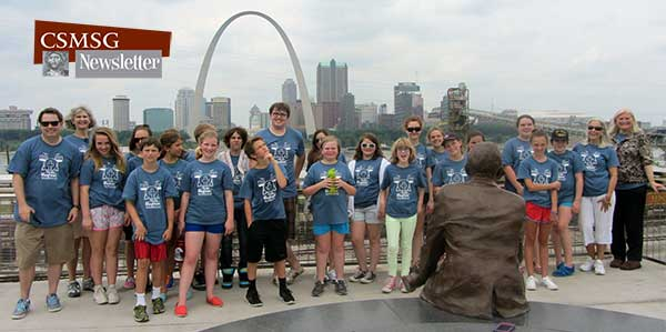 MS group near the arch