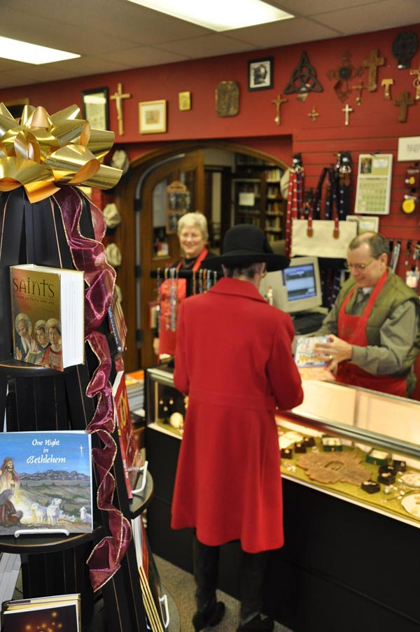 Canterbury Bookstore offers many items perfect for Christmas gifts.