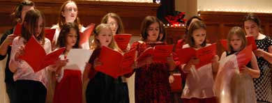 Girls Choir at Advent Family Night