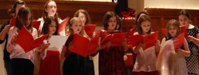 Girls Choir at Advent Family Night