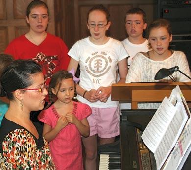 choir practice at CSMSG