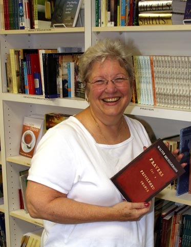 Bookstore manager, Peggy Strelinger