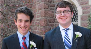 Silver chalice recipients Will Brown and Ben Nickelson