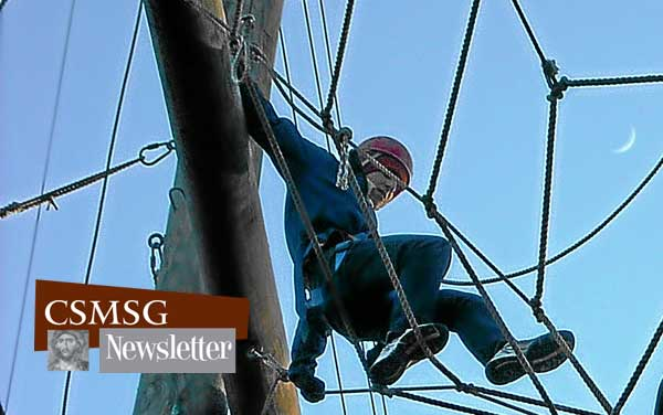 The ropes course at Trout Lodge