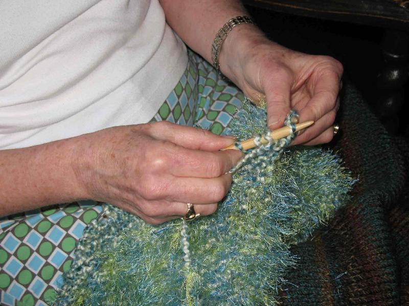 knitting demo