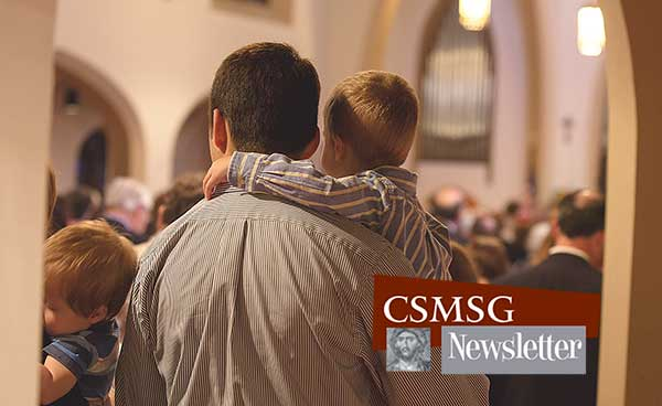 Father and son at worship