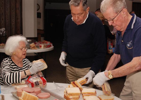 Sandwich making on Saturday morning