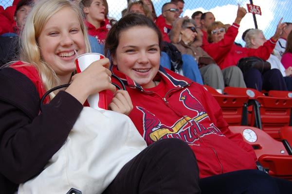 Girsl enjoying Cards game at recent Youth Ministry outing