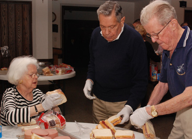 Sandwich Making on Saturday for the homeless shelter