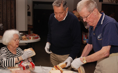 Sandwich making for the Hunger MInistry