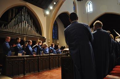 Evensong liturgy at CSMSG