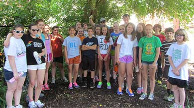 Middle Schoolers at McPherson garden