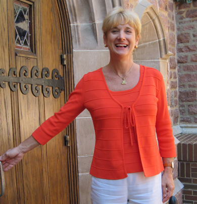 Laurie greeting at door